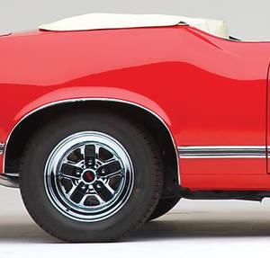 1970-1971 Cutlass Body Side Moldings, 1970-71 Cutlass Supreme/SX Front of Quarter