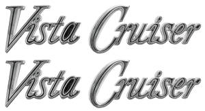 1970-1972 Cutlass Fender Script, 1970-72 Vista Cruiser Front