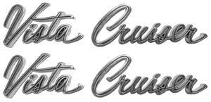 1965-1969 Cutlass Fender Script, 1965-69 Vista Cruiser Front