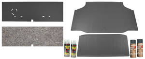 1964-1965 Cutlass Trunk Mat Kits Coupe Gray Rubber