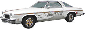Cutlass/442 Stripe Set, 1974 Pace Car Door Decals