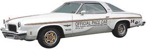 Cutlass Stripe Set, 1974 Pace Car Door Decals