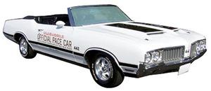1970-1970 Cutlass Oldsmobile 4-4-2 Pace Car Decals Stripes, by Phoenix Graphix