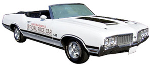 1970 Cutlass/442 Oldsmobile 4-4-2 Pace Car Decals Stripes