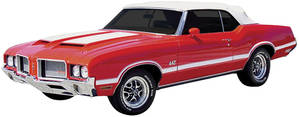 1970-72 Stencil & Stripe Kit; Cutlass 4-4-2 W-30/W-31 Vinyl Decal, by Phoenix Graphix