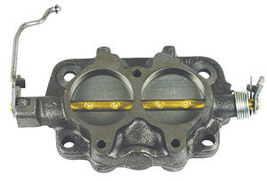 1966 Cutlass Carburetor Base Assembly, Tri-Power Front