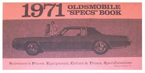 1971-1971 Cutlass Oldsmobile Accessorizer Booklet 1971