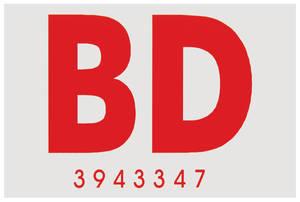 """1969 Cutlass/442 Frame Code Decal Convertible """"BD"""""""