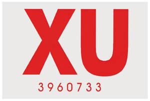 "1970-1970 Cutlass Frame Code Decal Hardtop ""XU"""