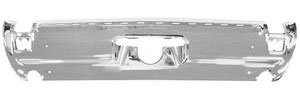 1969-1969 Cutlass Bumper, Chrome Rear w/Molding Holes