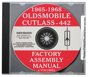 1965-1968 Cutlass Factory Assembly Manuals, CD-ROM Cutlass/4-4-2