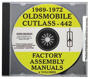 1969-72 Factory Assembly Manuals, CD-ROM Cutlass/4-4-2