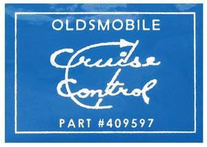 1972-1973 Cutlass Cruise Control Decal on Servo (#409597)