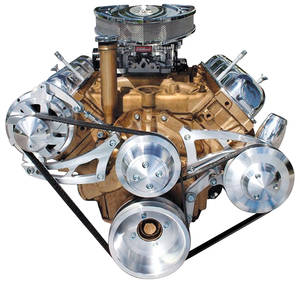 "1964-72 Cutlass/442 Track Serpentine Conversion Remote Power Steering (With Ac) Req. 78"" Belt"