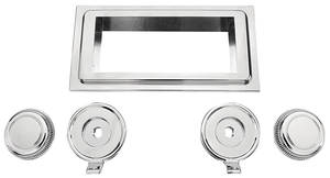 1964-65 Cutlass/442 Stereo Faceplate Chrome