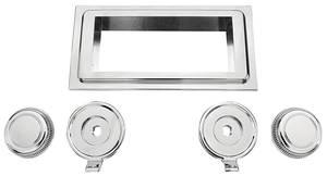 1964-65 Cutlass Stereo Faceplate Chrome