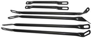 1971-1972 Cutlass Bumper Support Bars 6 Pieces (Complete Set)