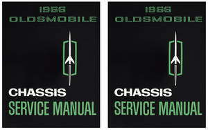 1966 Cutlass Service Manual, Oldsmobile Chassis 2-Pc.