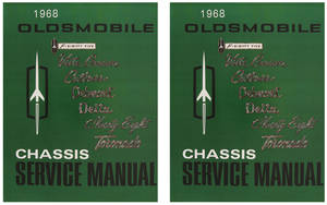 1968 Cutlass Service Manual, Oldsmobile Chassis 2-Pc.