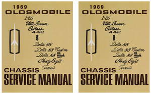 1969-1969 Cutlass Service Manual, Oldsmobile Chassis 2-Pc.