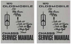1970-1970 Cutlass Service Manual, Oldsmobile Chassis 2-Pc.