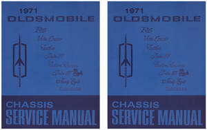 1971-1971 Cutlass Service Manual, Oldsmobile Chassis 2-Pc.