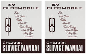 1972-1972 Cutlass Service Manual, Oldsmobile Chassis 2-Pc.