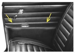 1965-1967 Cutlass Armrest Covers, Cutlass Rear Convertible Black, by Distinctive Industries