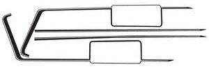 1971-1972 Cutlass Hood Stripe Kit, 1971-72 W-29 Cutlass/4-4-2, by Phoenix Graphix