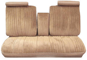 1976-1976 Cutlass Seat Upholstery, 1976 Cutlass Rear Seat Coupe, by PUI