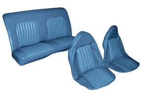 Seat Upholstery, 1973-77 Cutlass/4-4-2 Vinyl/Velour Buckets w/Coupe Rear