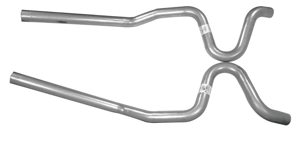 """Photo of El Camino Tailpipes, 1968-72 High-Performance 2-1/2"""", rear exit"""