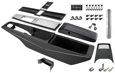 1970-72 El Camino Console Kit, 4-Speed Center