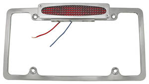 License Plate Frame, Polished Billet