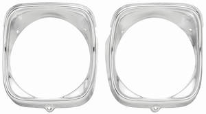 Chevelle Headlight Bezels, 1968 RH (Inner & Outer), by RESTOPARTS