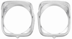 1968-1968 El Camino Headlight Bezels, 1968 LH (Inner & Outer), by RESTOPARTS