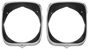 Chevelle Headlight Bezels, 1969 RH (Inner & Outer)