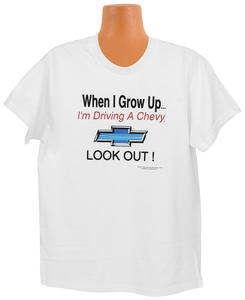 1978-88 Malibu Grow Up Chevy Kids Tee 6/8, by Hot Rods Plus