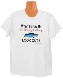 Grow Up Chevy Kid Tee 10/12