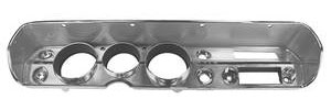 1965 Chevelle Dash Bezel, Reproduction w/AC, by RESTOPARTS