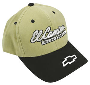 1978-1983 Malibu El Camino Embroidered Hat Khaki/Black, by Hot Rods Plus