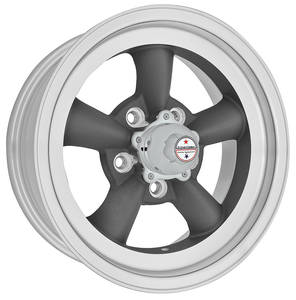 "1961-77 Cutlass Wheel, Torq-Thrust D 14"" X 4-1/2"" (2-1/8"" BS) -15 mm Offset, by American Racing"