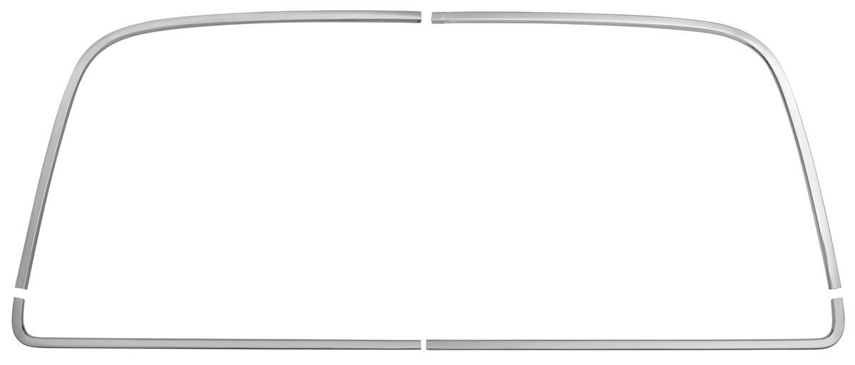 RESTOPARTS Chevelle Window Reveal Moldings, Rear coupe (4