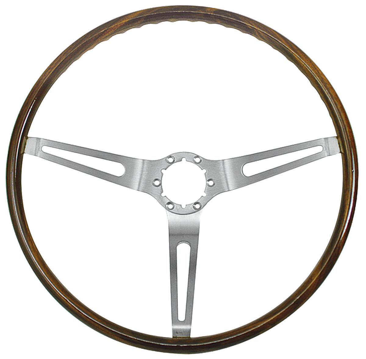 Photo of Steering Wheel, Simulated Walnut Wood
