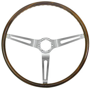 1967-68 Skylark Steering Wheel, Walnut Wood