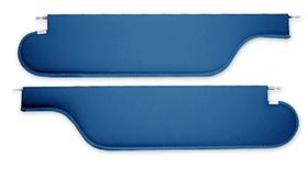 1971-1972 Cutlass Sun Visors Coupe Ribbed, 1 Pin