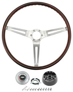1969-1969 Chevelle Steering Wheel, 1969 Simulated Rosewood