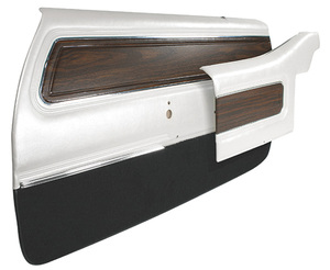 1972-1972 Cutlass Door Panels, High-Quality Pre-Assembled Front, Supreme, by PUI