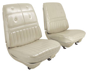 Seat Upholstery, 1970 Cutlass Supreme Holiday Coupe, Cutlass Supreme & 4-4-2 Holiday Convertible Buckets w/Coupe Rear