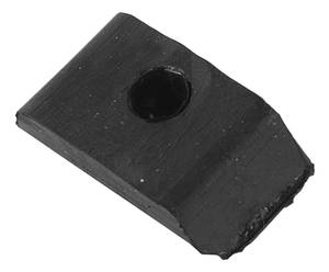 1957-58 Cadillac Body Bumper, Rubber - Door Latch Striker Plate, by Steele Rubber Products